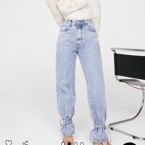 Nasty Gal tie ankle jeans